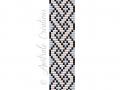 Schéma Bracelet Loom Croisillons