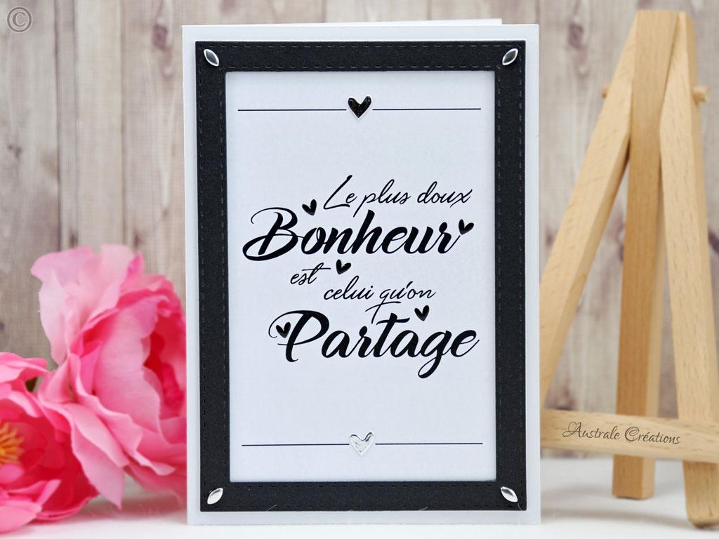 Carte Bonheur Partagé