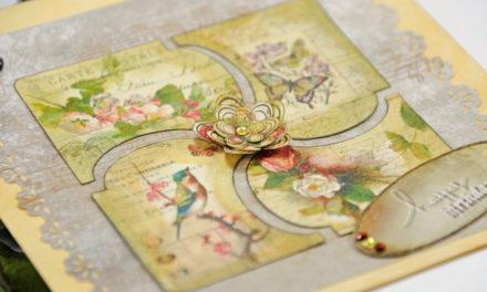 Carte 3D : Anniversaire Vintage