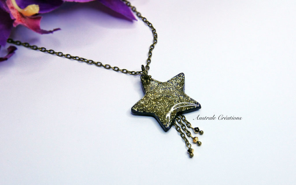 Collier «Falling Star»