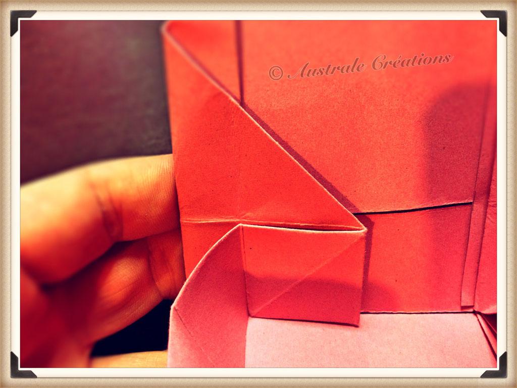pliage papier : une boite origami | oragami | Origami ...