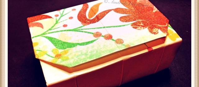 Tutoriel : Boîte Cadeau en pliages Origami (sans colle)