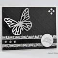 Carte 3D Papillon et Dentelle pour anniversaire