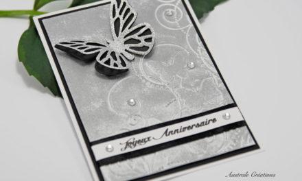 Carte :  Papillon Argenté
