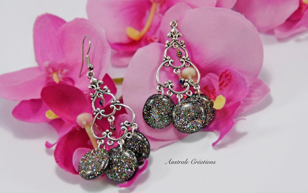 Boucles d'oreilles «Crystal Vitrail»