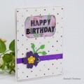 Carte Aquarelle : Fleurs et strass pour anniversaire