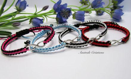 Bracelets «L'infini» en bicolore