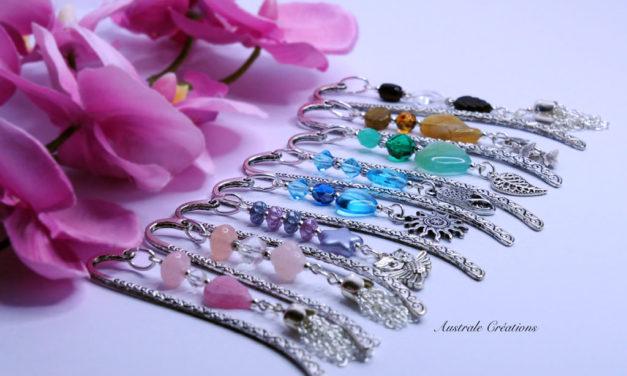 Marques-pages en perles de bohème