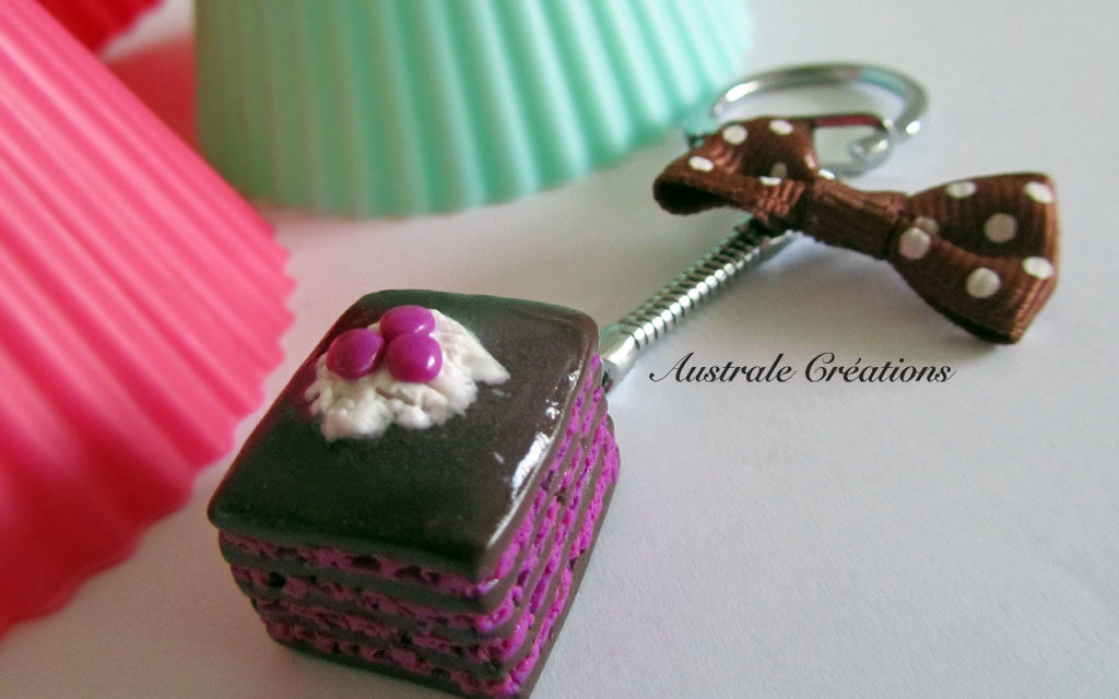 Porte clés «Choco Framboises»