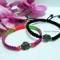 "Bracelets ""Rose"" shamballa"