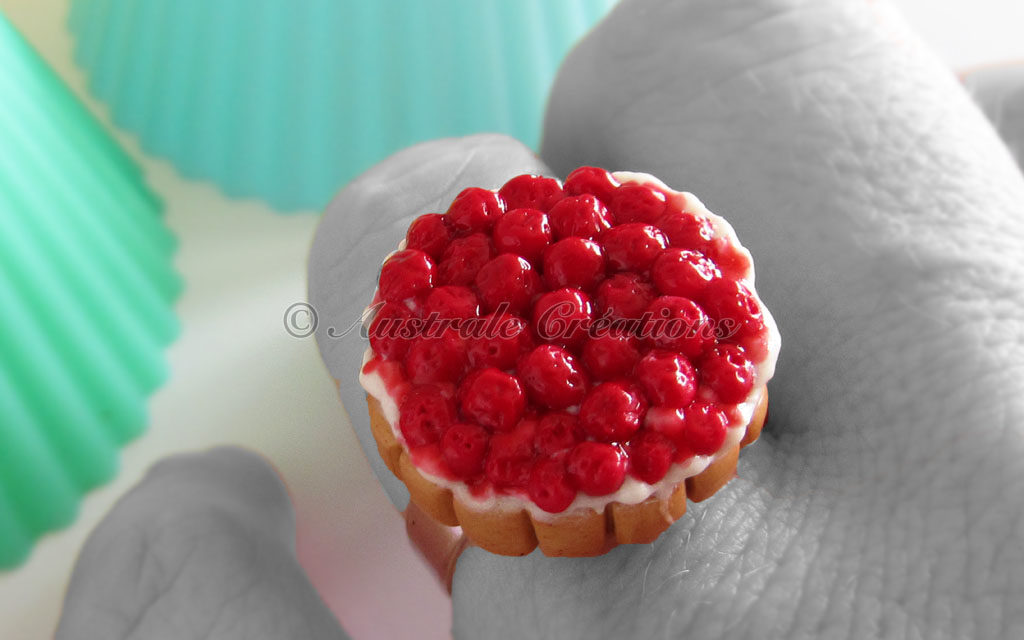 Bague « Tarte aux fruits rouges »