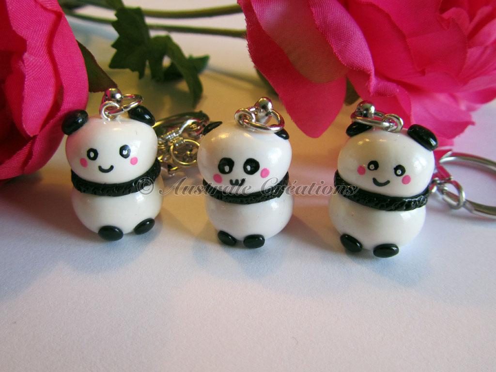 110Porte cles kawaii panda 1