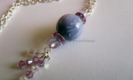 Parure «Purple Rolled Mokumé»