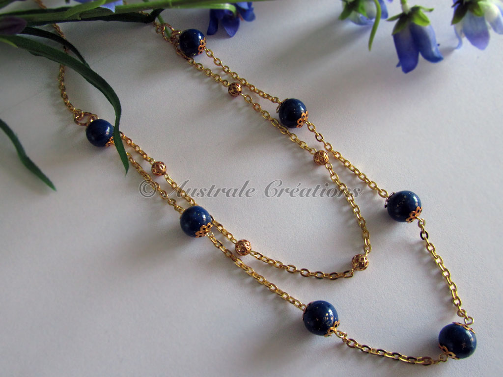 22Collier En lapis et or 3