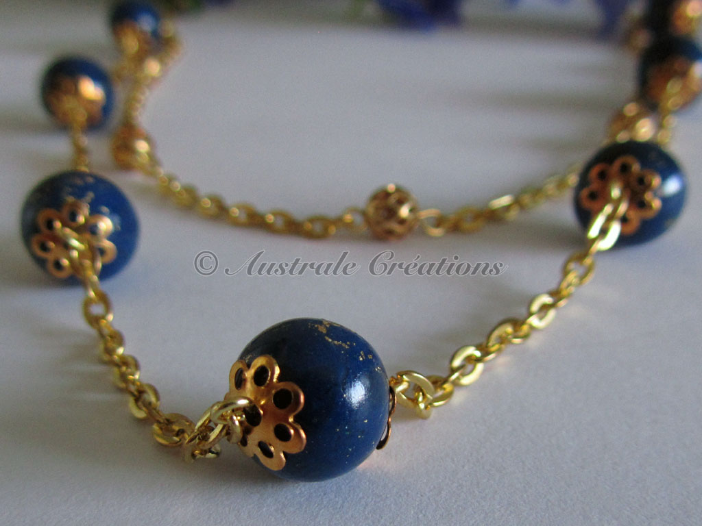 23Collier En lapis et or 7