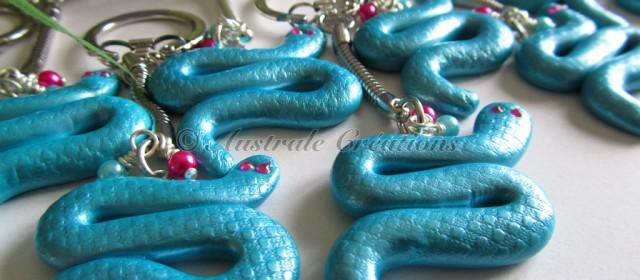 Portes clés «S comme Serpent»