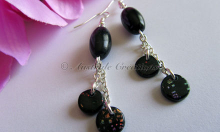 Boucles d'oreilles « Black Speckled »