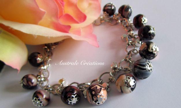 Parure «Peach Cluster»