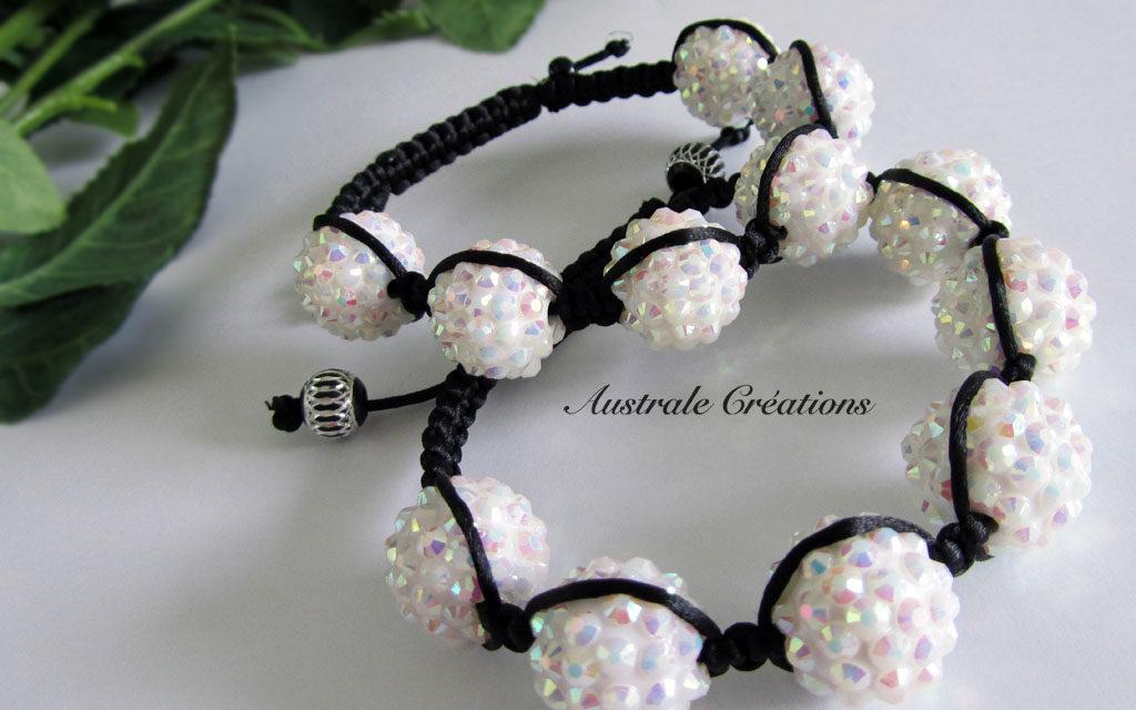 Bracelets Shamballa à strass