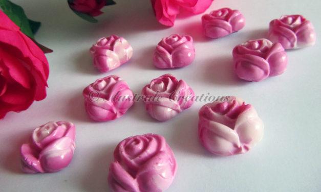 Magnets Petites Roses en Pâte Polymère