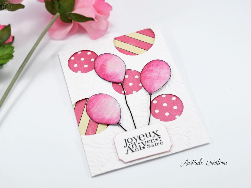 Carte 3D Ballons