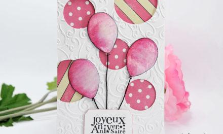 Carte : Des Ballons Roses