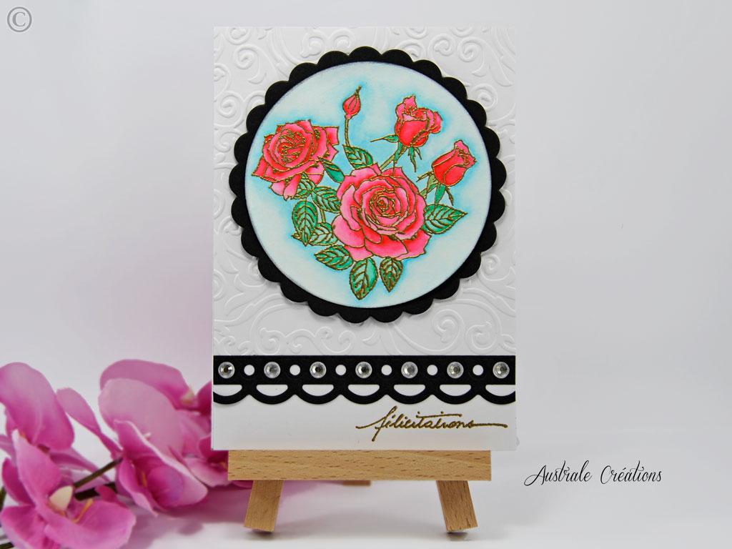 Carte aquarelle pour mariage