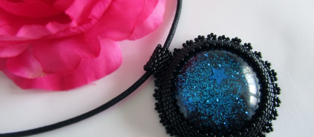 Parure «Blue Galaxie»