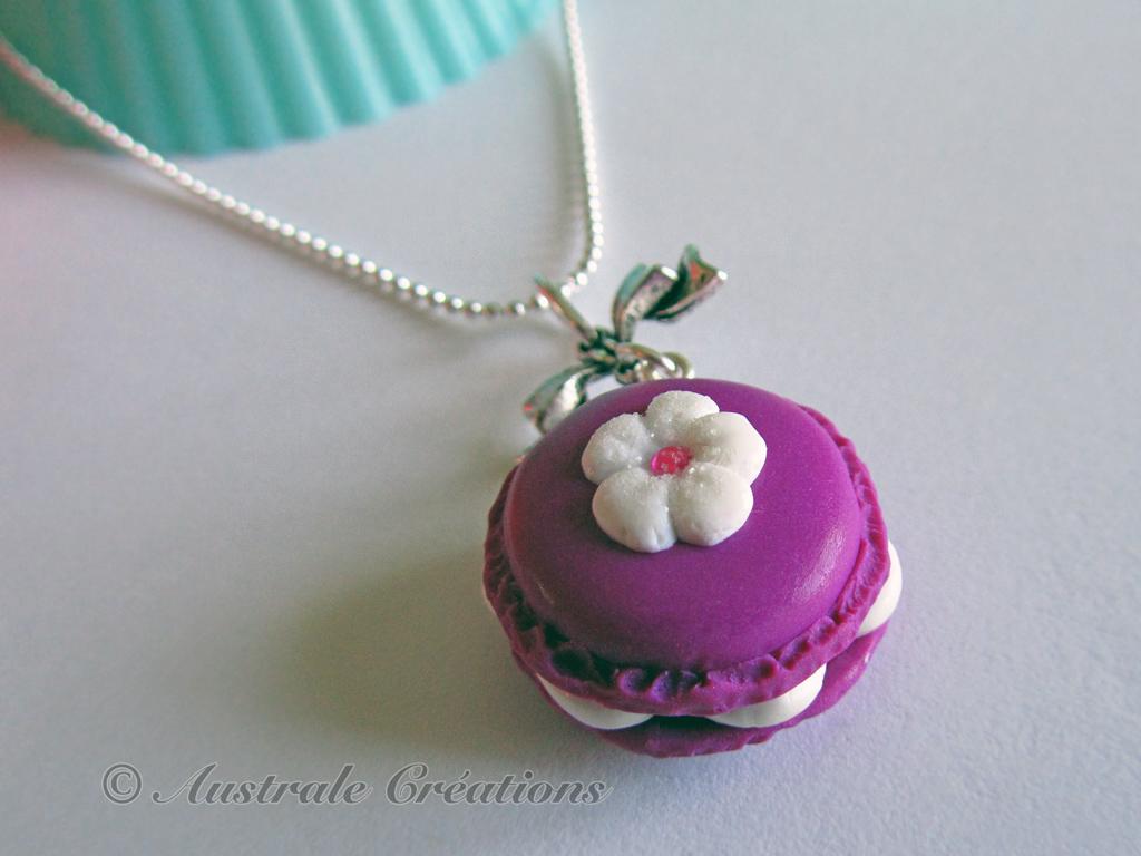 Collier macaron