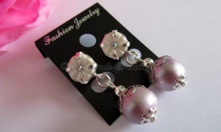 Boucles d'Oreilles «Rose Tendre»