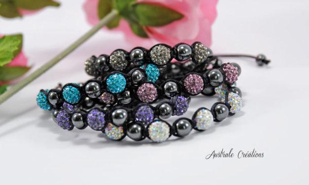 Bracelets Shamballa Strass et Hématites cuvée 2014 !