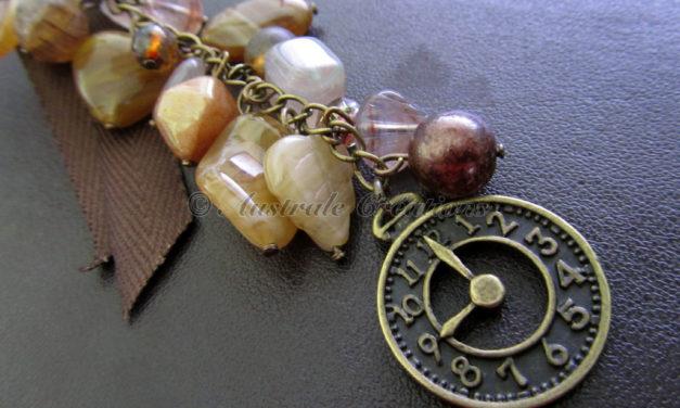 Bijou de sac «L'horloge»