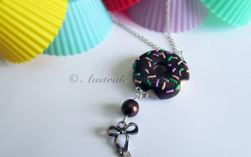 Collier «Donut's choco vermicelle»