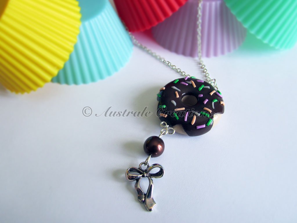 "Collier ""Donut's choco vermicelle"""