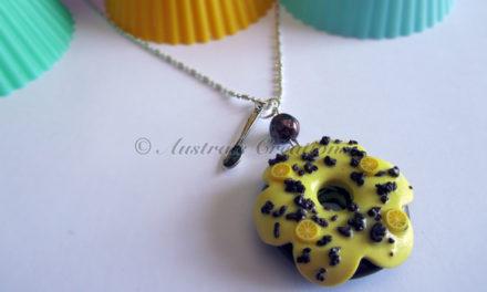 Sautoir «Donuts choco/citron»