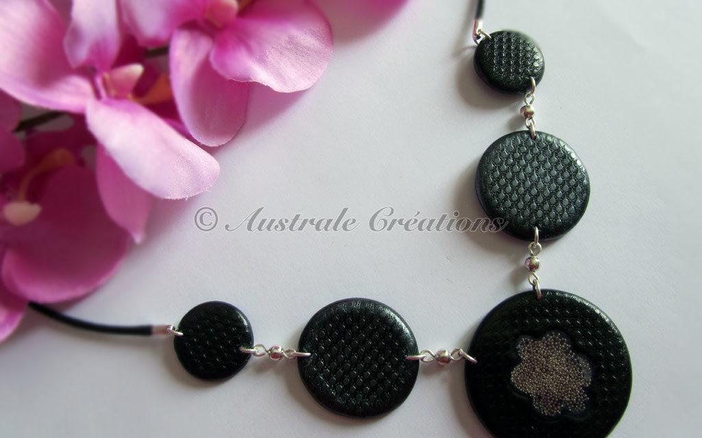 Collier «Perles et dentelle»