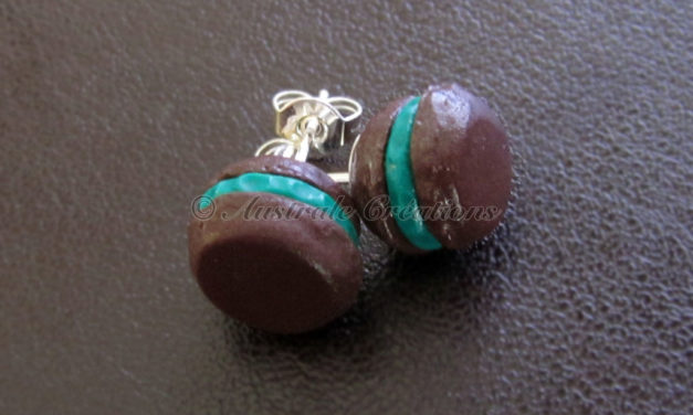 Puces d'oreilles Macarons « after eight »
