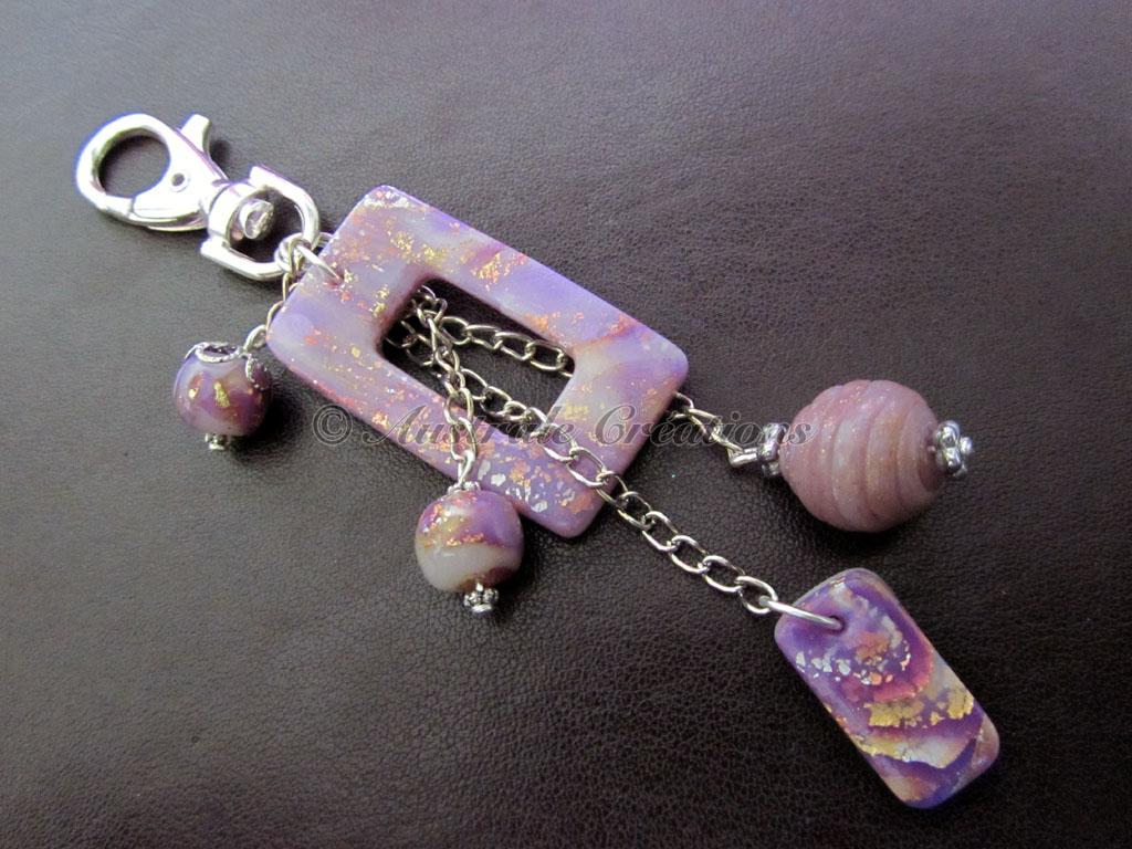 Parure & Bijou de sac « Mokumé Violet »