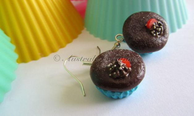 Parure «Cupcake choco fondant base turquoise»
