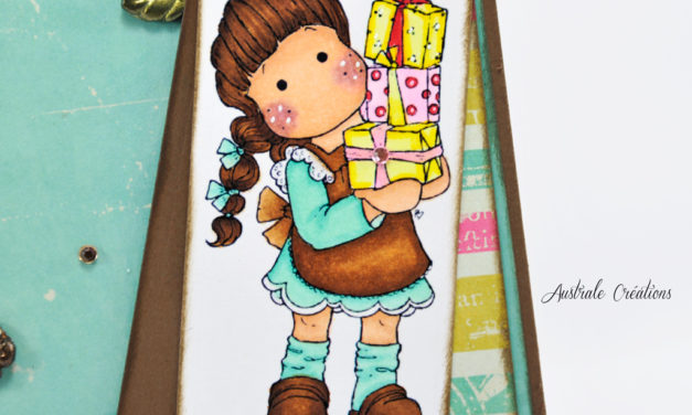 Carte : Tilda aux paquets cadeaux