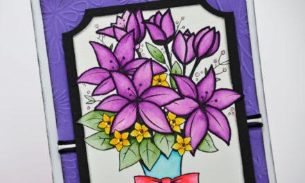 Carte : Bouquet d'Anniversaire