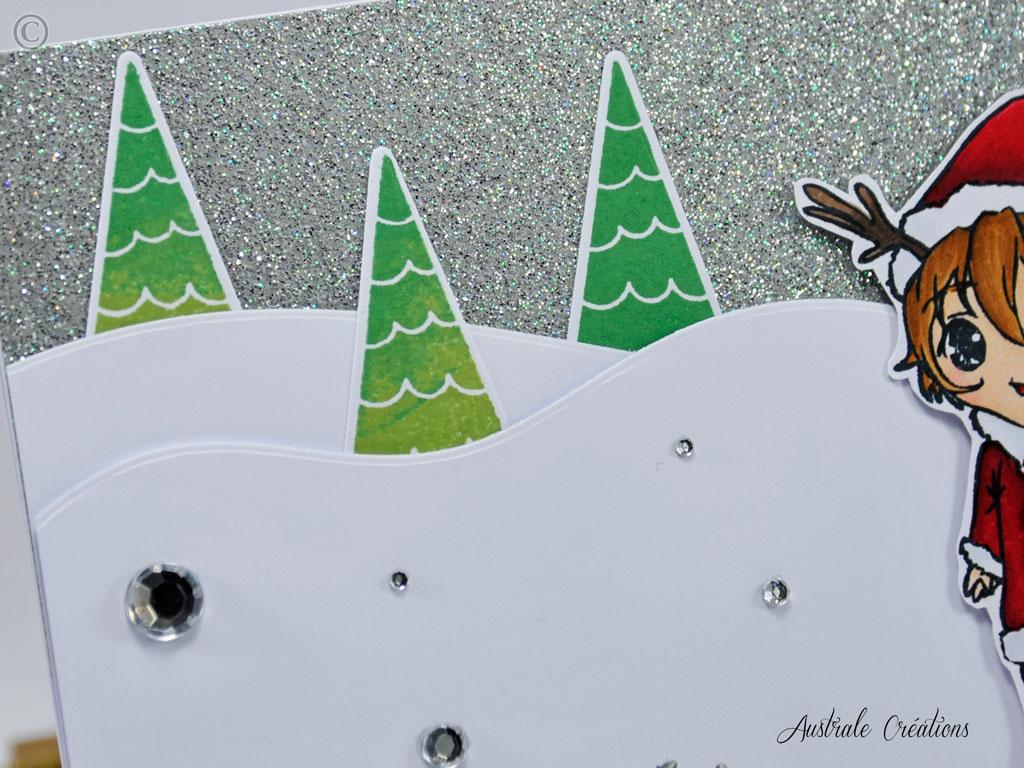 Carte Poupette de Noel