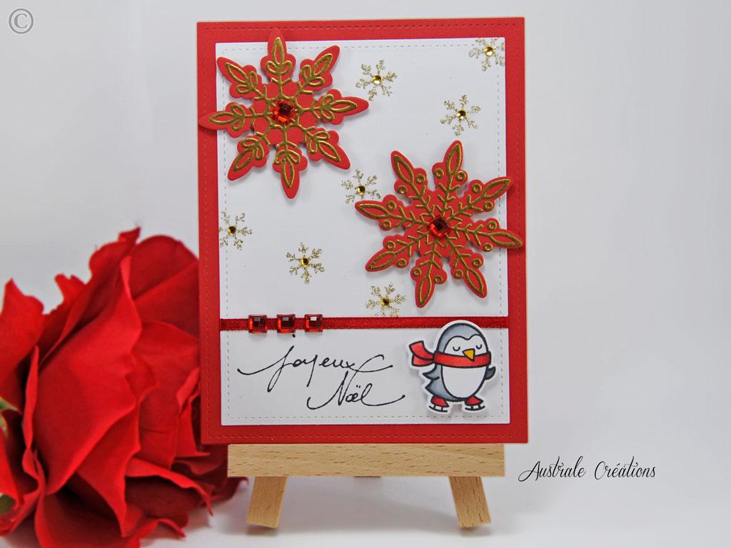 Carte Snowflakes Penguin