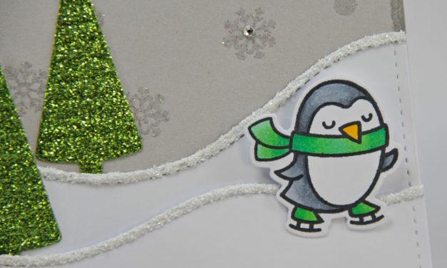 Carte : Winter Penguin V2