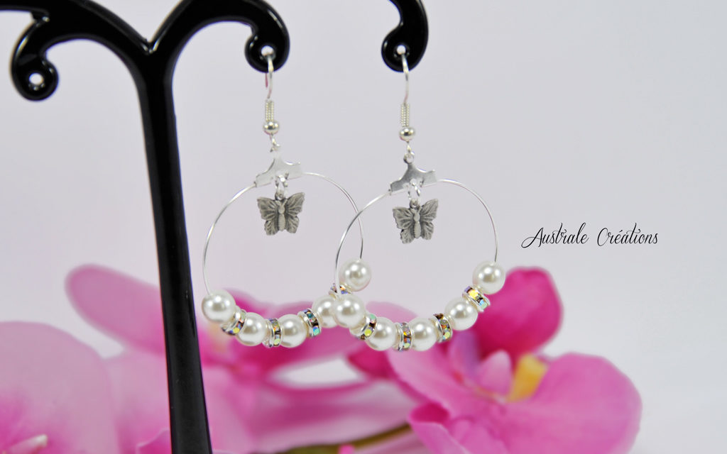 Créoles « Pearl and Butterfly »