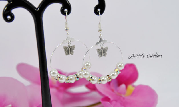 Créoles «Pearl and Butterfly»