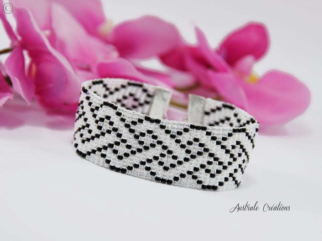 Bracelet Loom Croisillons