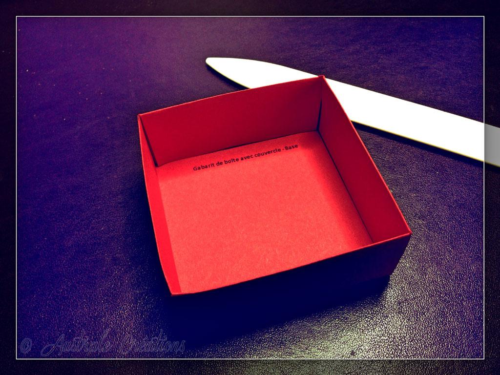 Tuto boites cadeau carrée avec couvercle