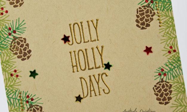 Carte : Jolly Holly Days