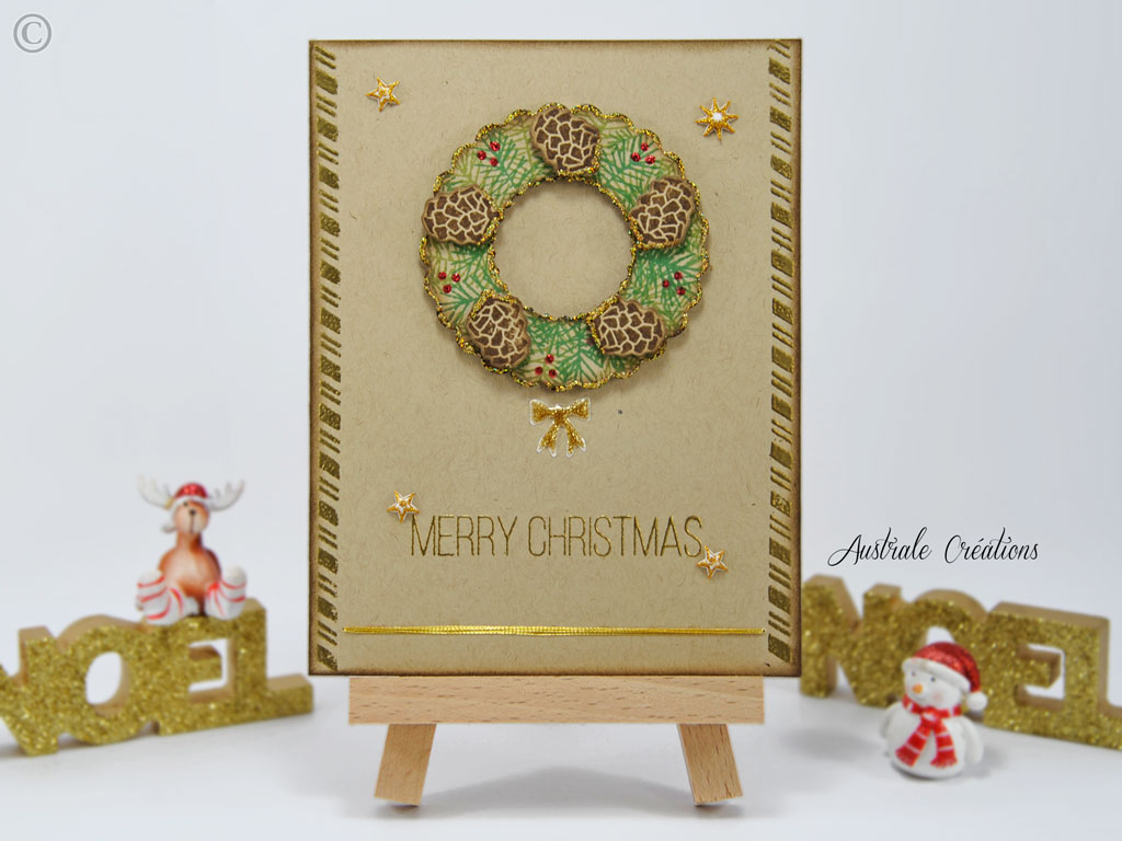 Carte Christmas Wreath